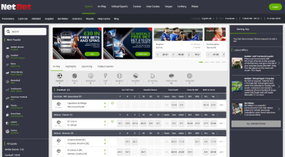 NetBet home page